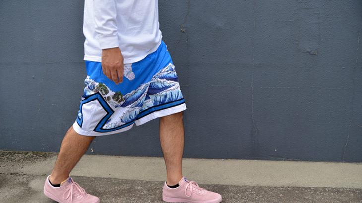 Great Wave Mesh Basketball Shorts