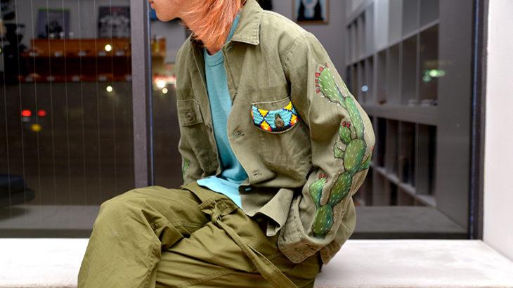 from muu / MUU Remake Cactus Beaded Army Shirt