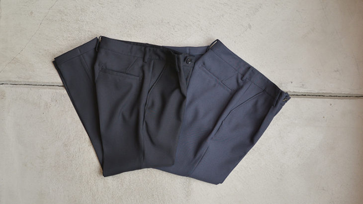 MR.OLIVE / RETRO POLYESTER TWILL TAPERED PANTS