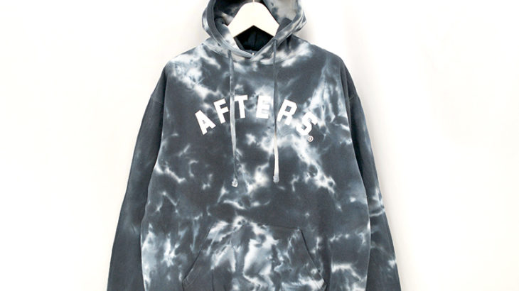 AFTERS®︎ ARCH LOGO TIE DYE HOODIE